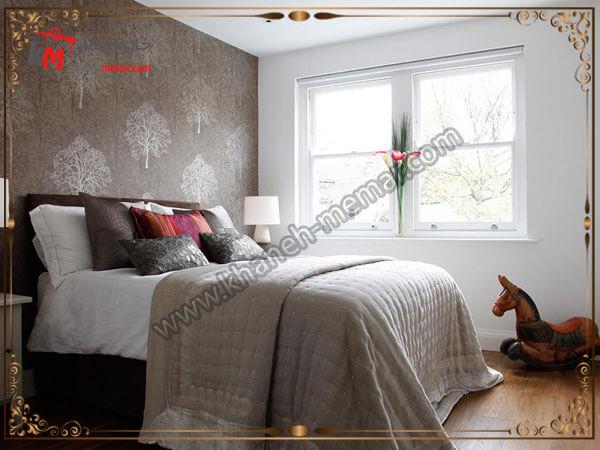 طرح های برجسته کاغذ تزیینی دیوار مدل های شیک و منحصر به فرد کاغذ دیواری اتاق خواب
