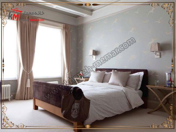 طرح زیبای تزیین اتاق خواب کاغذ دیواری اتاق خواب بزرگسال