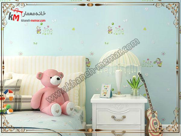 کاغد تزیینی برای اتاق خواب کودک کاغذ دیواری اتاق خواب کودک