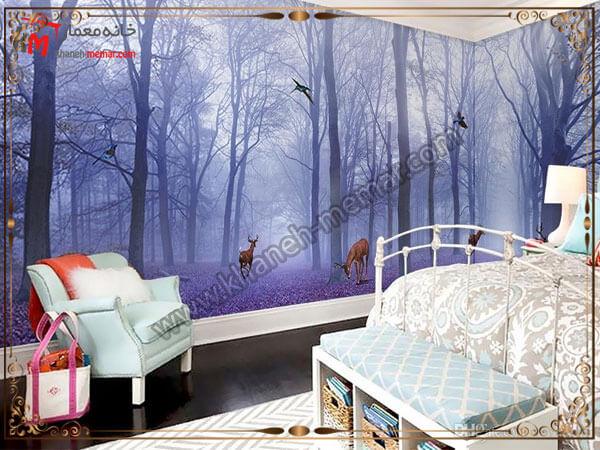 کاغذ تزیینی سه بعدی برای اتاق خواب کاغذ دیواری های سه بعدی