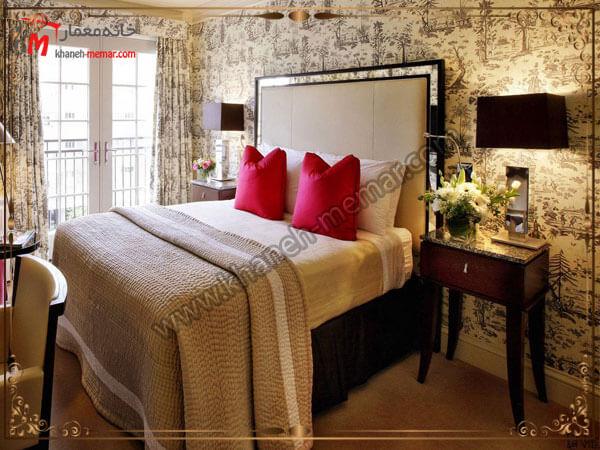کاغذ دیواری اتاق خواب بزرگسال استفاده از طرحهای متنوع برای تزیین اتاق خواب