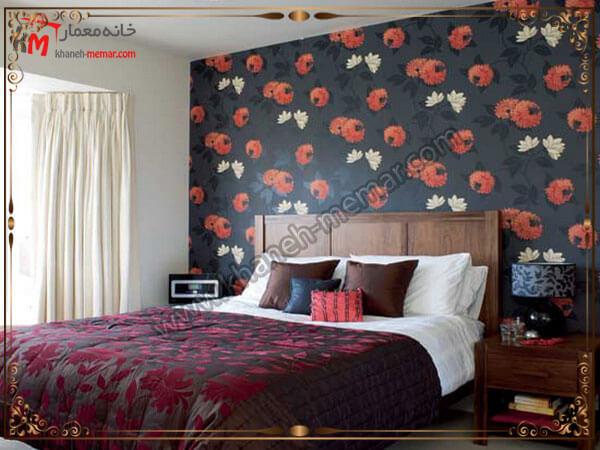 انتخاب رنگ تند برای تزیین اتاق خواب مدل های شیک و منحصر به فرد کاغذ دیواری اتاق خواب