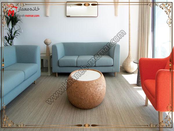 میز مبل راحتی و کوچک برای پذیرایی