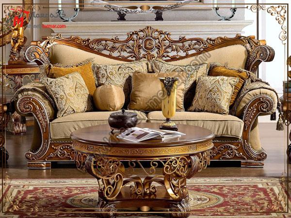 مبل های زیبای سلطنتی و شیک برای سالن پذیرایی
