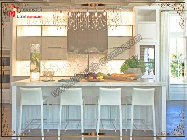لوستر رشته ای اویزی لوستر آشپزخانه را در کجای آشپزخانه نصب کنیم؟