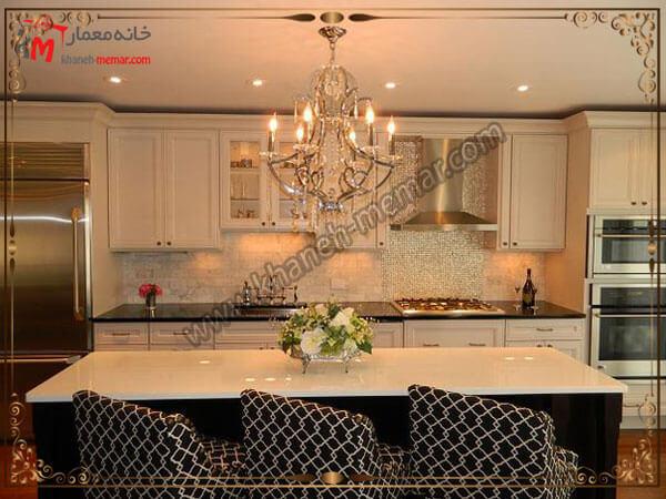 مدل های زیبای طراحی شده لوستر لوستر آشپزخانه را در کجای آشپزخانه نصب کنیم؟
