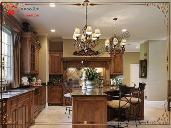 مدل زیبای طراحی شده چراغهای اشپزخانه لوستر آشپزخانه