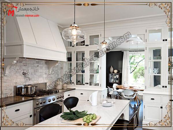 یک مدل از انواع لوسترهای شیشه ای جنس لوستر آشپزخانه