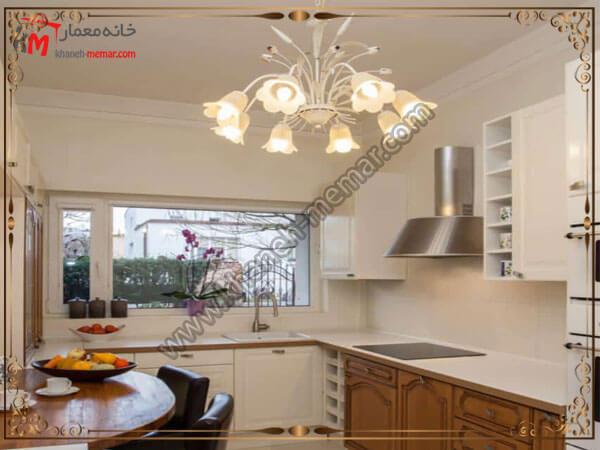 نصب لوستر وسط آشپزخانه لوستر آشپزخانه را در کجای آشپزخانه نصب کنیم؟