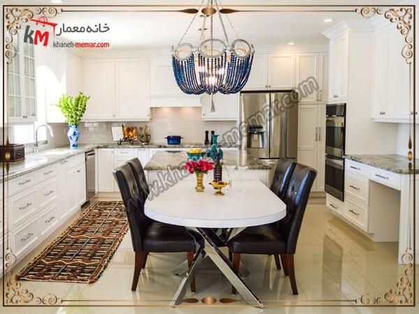 نصب کردن لوستر وسط آشپزخانه لوستر آشپزخانه را در کجای آشپزخانه نصب کنیم؟