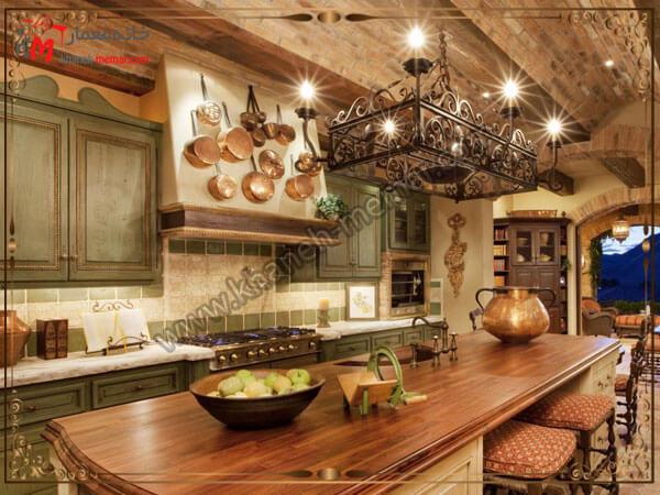 یک مدل لوسترفلزی جنس لوستر آشپزخانه شیک و زیبا
