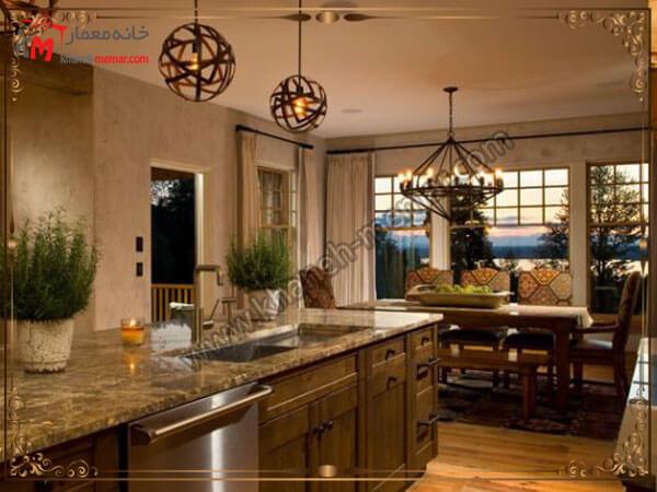 شیک ترین مدل های لوستر آشپزخانه با جنس های متفاوت انواع مدل های لوستر