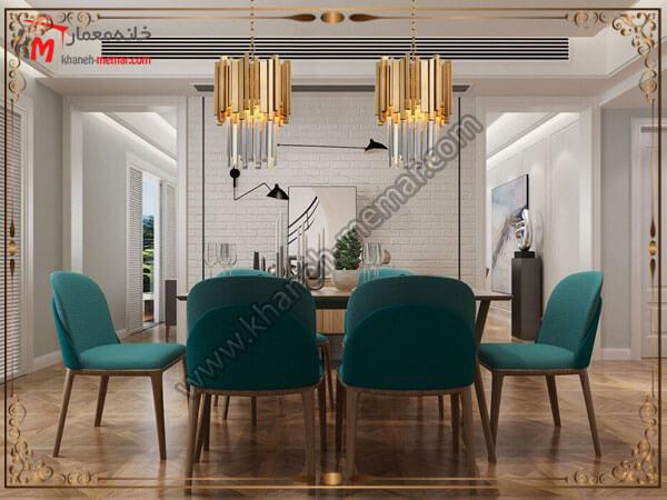 شیک ترین چراغها با طراحی چوبی و اویزی لوستر متناسب با طراحی داخلی