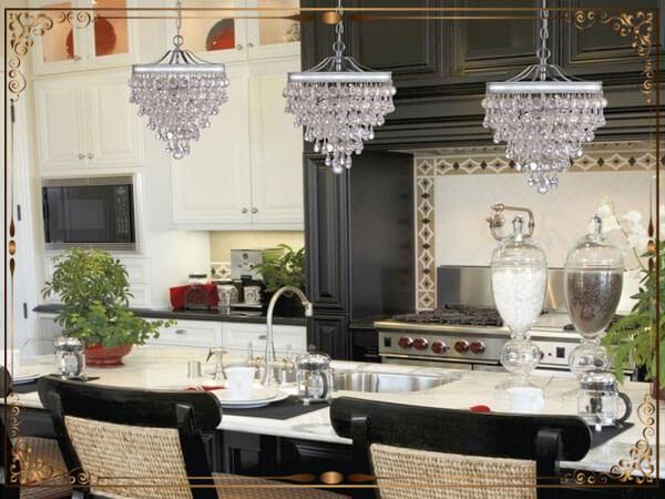 انواع متفاوت طراحی شده لوستر آشپزخانه