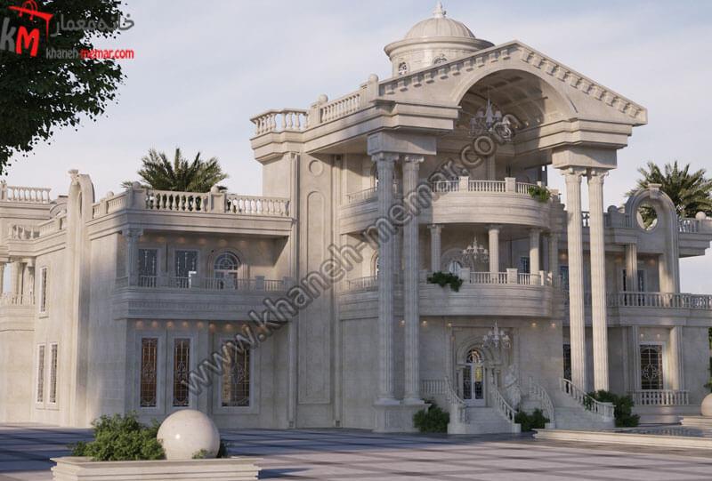 طراحی نمای زیبا به سبک کلاسیک دارای موقعیت دسترسی جنوبی دارای دو طبقه که به صورت تمام دوبلکس طراحی شده و کار شده با سنگ می باشد و دارای پارکینگ سرپوشیده می باشد .
