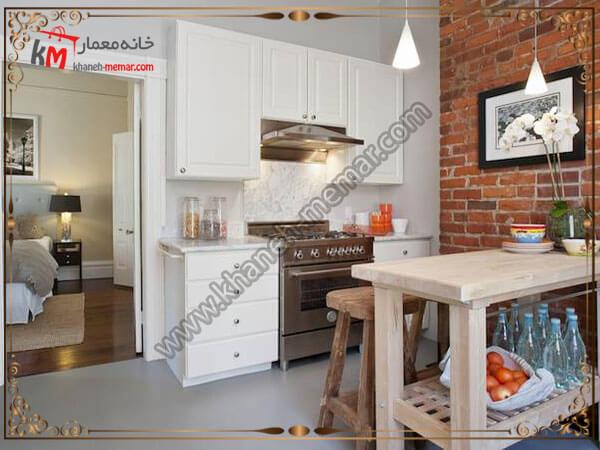 آشپزخانه و استفاده ار اجر برای دکوراسیون داخلی آن