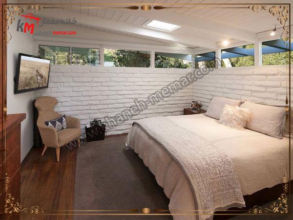 اتاق خواب و دکور زیبای سفید رنگ آن