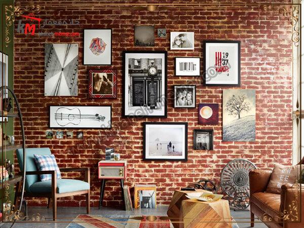تزیین دیوار با قاب عکس