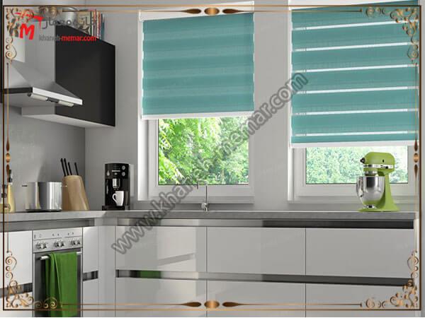 رنگهای جذاب پرده آشپزخانه طرح و رنگ پرده بسیار مهم است