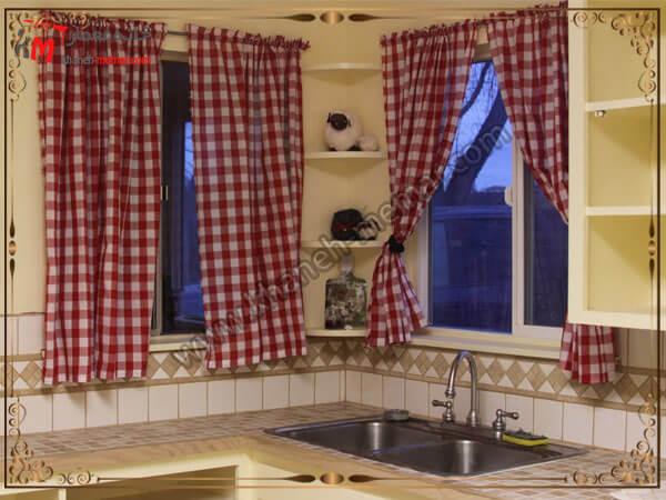 نکات اساسی در انتخاب پرده برای آشپزخانه پرده های آشپزخانه مدل دو تکه