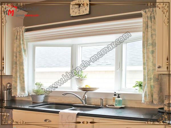 پرده رنگ روشن برای آشپزخانه رنگ پرده آشپزخانه