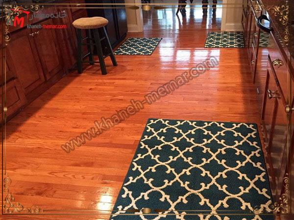طرحتوجه به رنگ آمیزی و دکوراسیون آشپزخانه در زمان خرید فرش