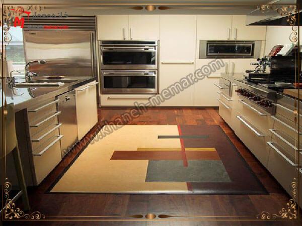 فاصله بین کابینت های آشپزخانه توجه به رنگ آمیزی و دکوراسیون آشپزخانه در زمان خرید فرش