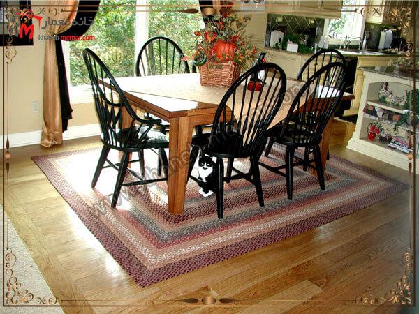 استفاده از فرش برای زیر میز غذا خوری فرش برای زیر میز ناهار خوری