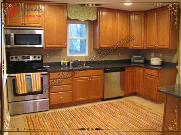 ست کردن فرش با رنگ کابینت آشپزخانه