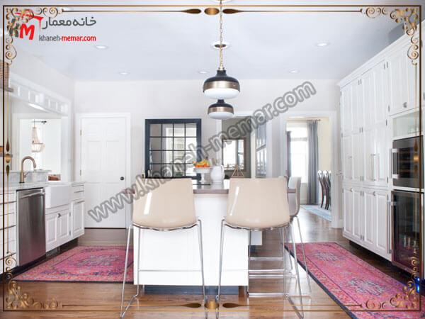 مدلی از فرش دو تکه برای آشپزخانه توجه به برند تولید کننده فرش آشپزخانه