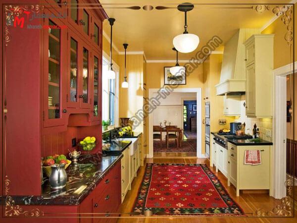 ست کردن رنگ دکور با فرش فرش برای زیر میز ناهار خوری