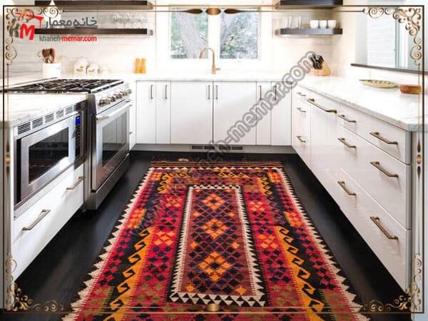 توجه به برند فرش تهیه شده توجه به برند تولید کننده فرش آشپزخانه