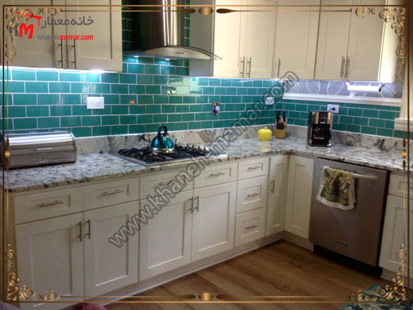 کاشی فیروزه ای برای اشپزخانه کاشی آشپزخانه برای دکوراسیون مدرن