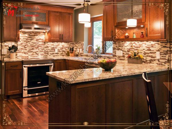 طراحی مدرن تایل آشپزخانه با طرح های مورب