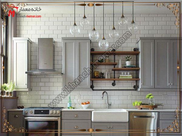 طراحی داخلی آشپزخانه کاشی آشپزخانه شیک و جذاب
