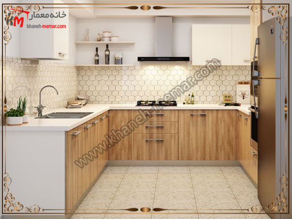 طرح لانه زنبوری برای اشپزخانه کاشی آشپزخانه ساده باشد یا طرح دار؟