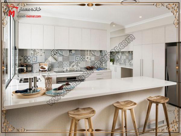 مدلی از کاشی آشپزخانه کاشی طرح برجسته