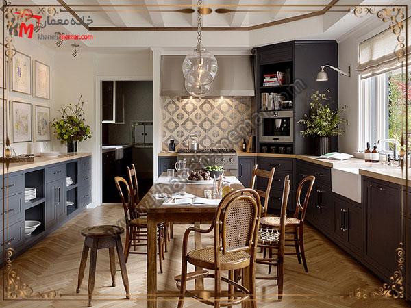 تایل های آشپزخانه با طرح های مربعی طرح و مدل کاشی