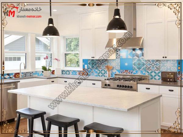 کاشی های طرح دار برای آشپزخانه طرح و مدل کاشی