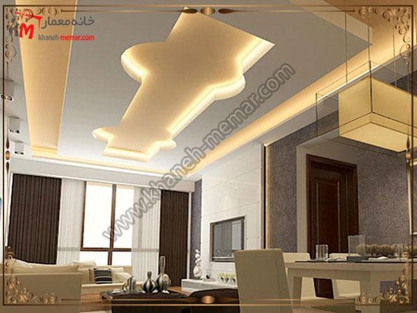 تزیینات ساده برای سقف پذیرایی و ساخت و اجرای کناف