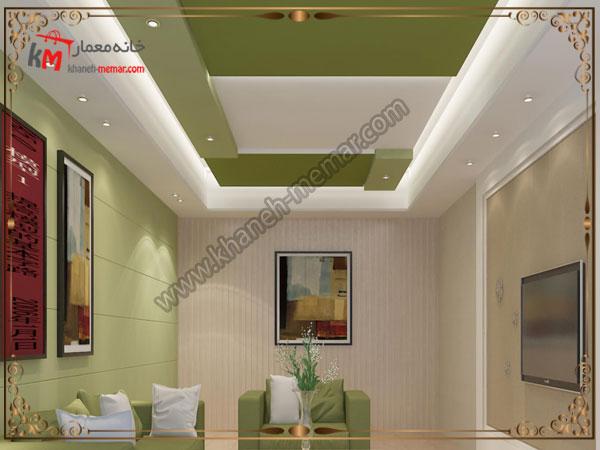 تزیین سقف با رنگهای زیبا و طراحی کناف
