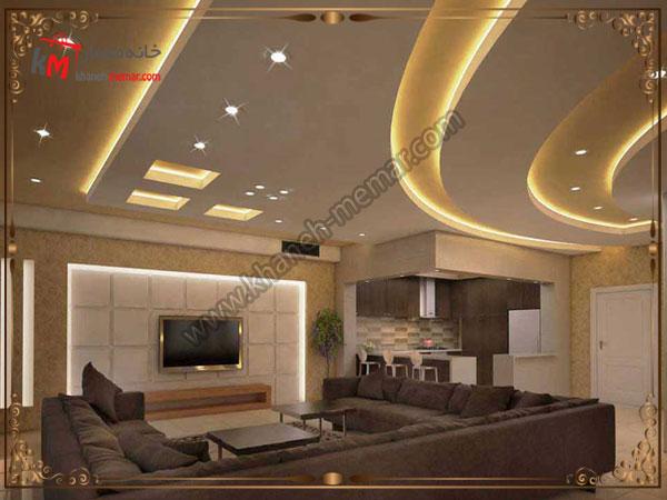نورپردازی سقف از طریق کناف های منحنی