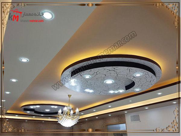 رنگ بندی تیره برای طراحی تزیینات سقف