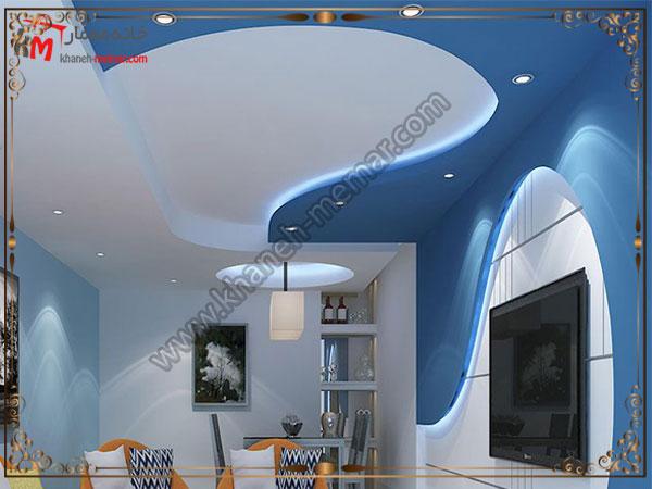 چهارمین مدل از انواع کناف سقف برای پذیرایی