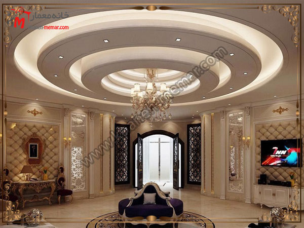 بهترین های تزئینات سقف پذیرایی