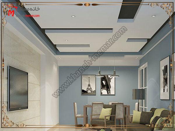 تزیینات دکور سالن پذیرایی و طراحی زیبای سقف