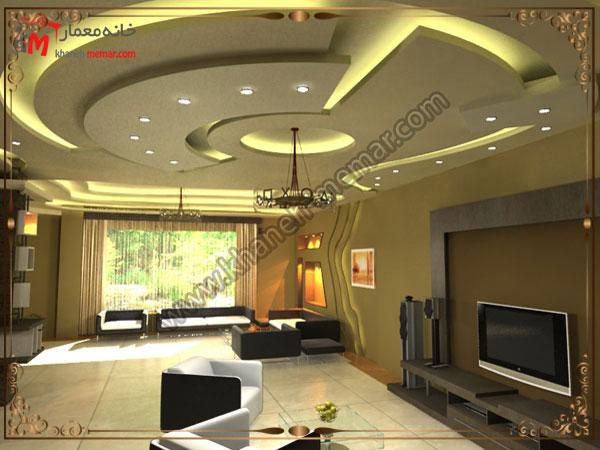 نورپردازی رنگی کناف سقف