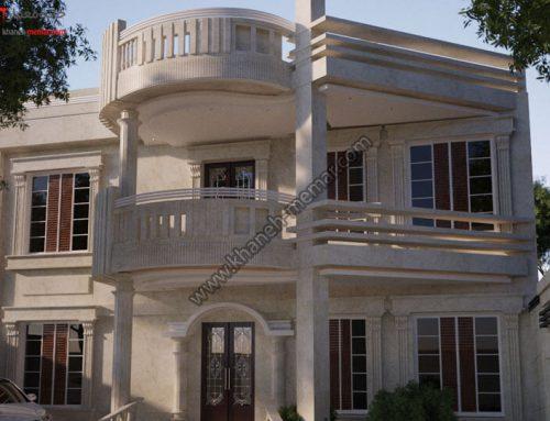طراحی فوق العاده زیبای نمای بیرونی ساختمان دو طبقه