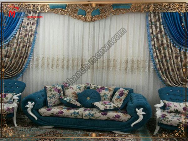 انواع پرده های سلطنتی و شیک برای سالن
