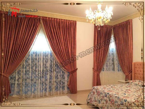 دکور پرده کلاسیک برای اتاق خواب مدل پرده اتاق خواب